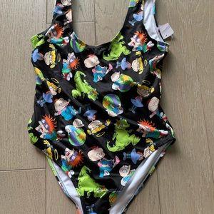 Forever 21 black rugrats swimsuit m